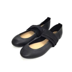 Free People Black Leather Ballet Flats w/ Ties
